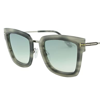 ced8e667bea Image Unavailable. Image not available for. Color  2018 Tom Ford Lara-02  FT0573 Women Gray   Mirrored Light Blue Square Sunglasses