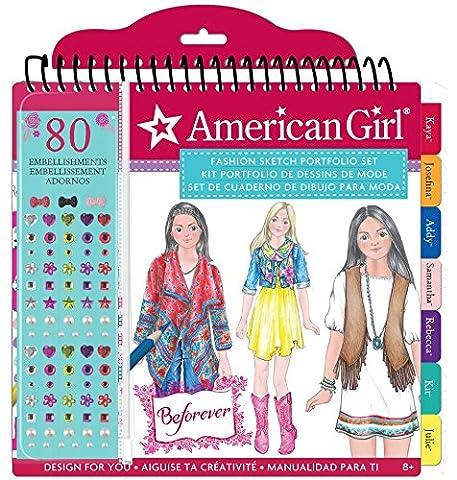 American Girl BeForever Fashion Sketch Portfolio - Fashion Design Set