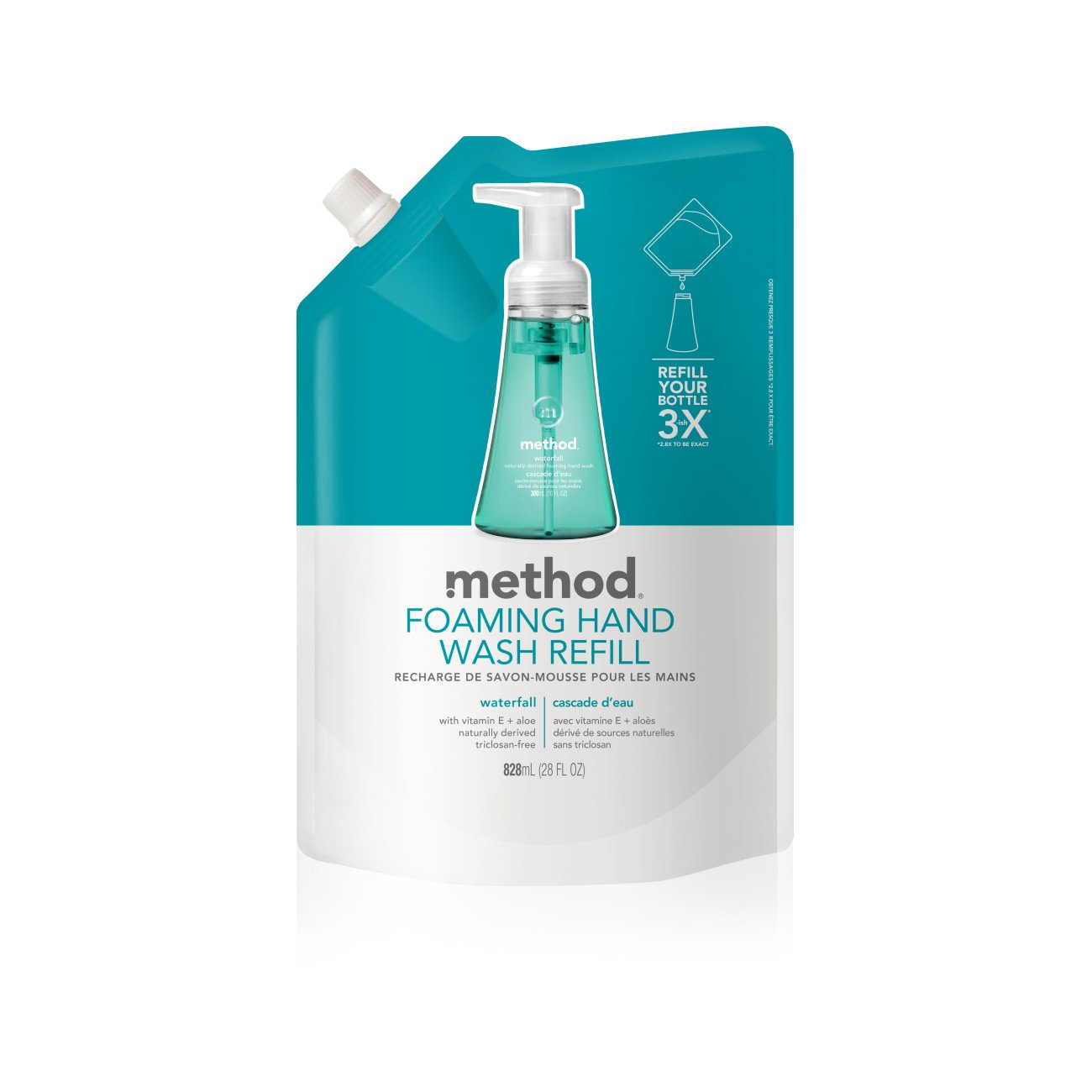 Method Foaming Hand Soap, Refill, Waterfall, 28 Ounce
