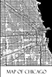 Map of Chicago: Chicago Map Travel Vacation Journal, Diary, Booklet, Notebook 6 x 9 With 100 Lined Paper Pages (Illinois Travel & Tourism Guide Accessories) (Volume 1)