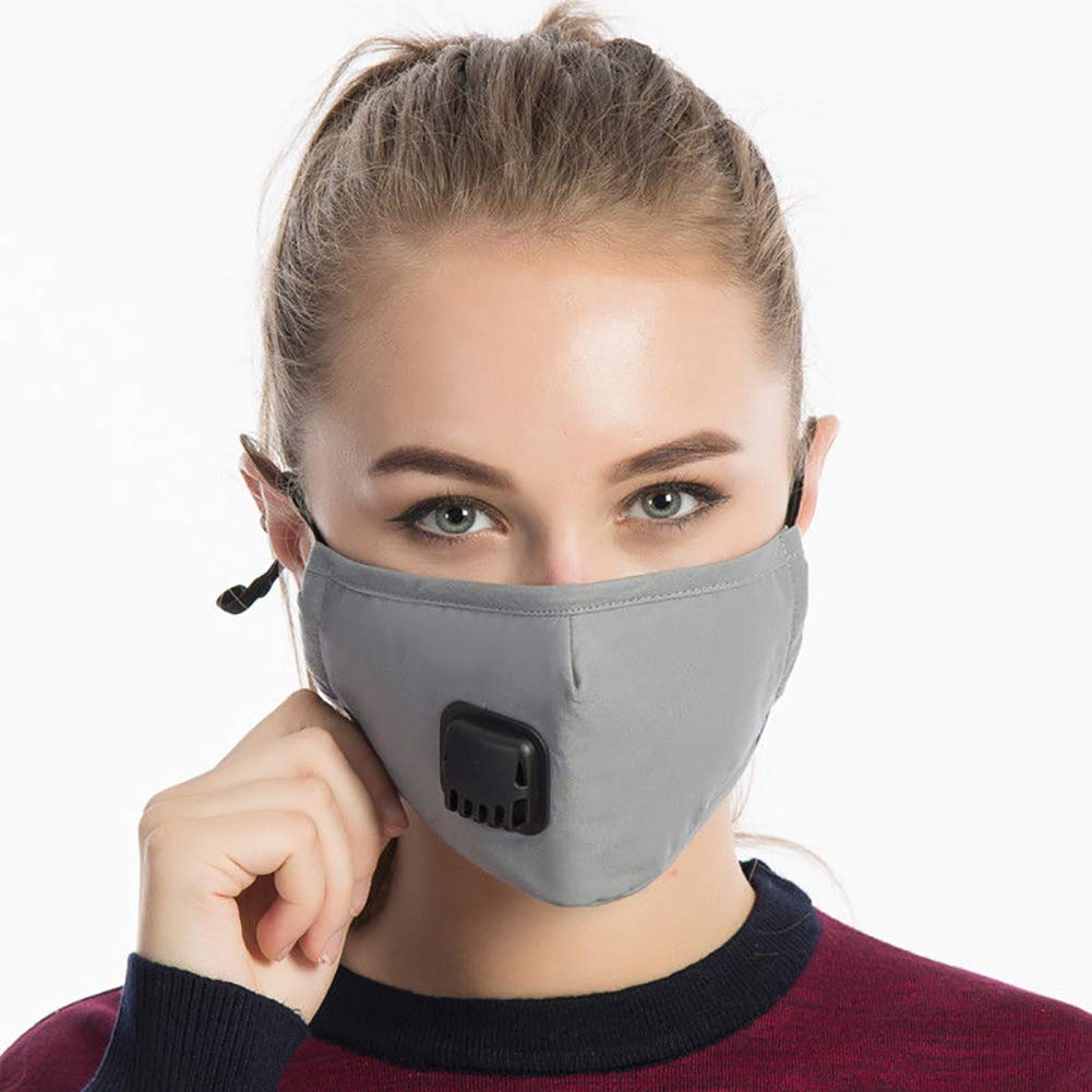 Air Purifying Face Safety Mask Cover Hot Anti Dust Multi Layer Mouth Filter (Gray)