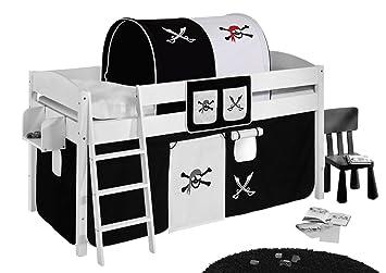Tunnel Set Etagenbett : Lilokids tunnel pirat schwarz weiß für hochbett spielbett und