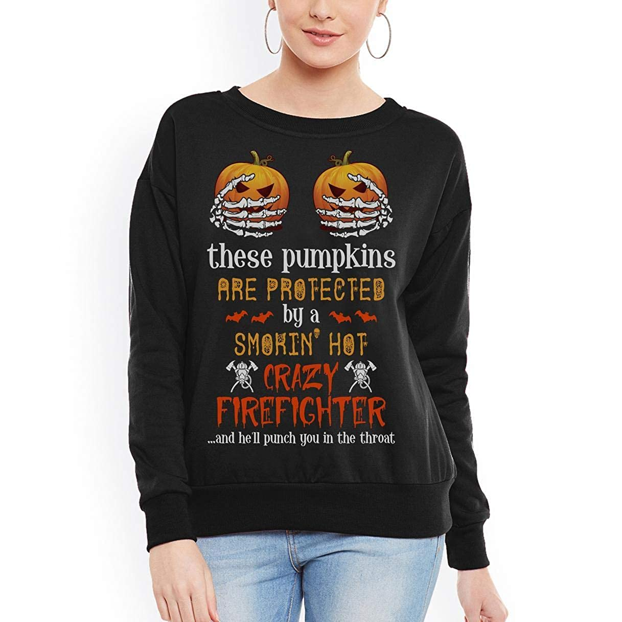 tee are Protected by A Smokin Hot Crazy Firefighter Unisex Sweatshirt