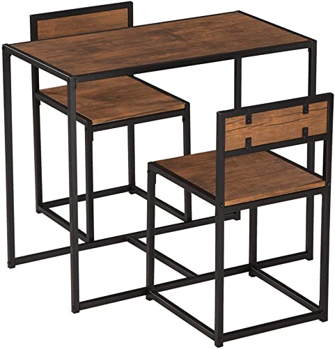 Shamdon Home Collection Wood 3 Piece Dining Set,Bar Table