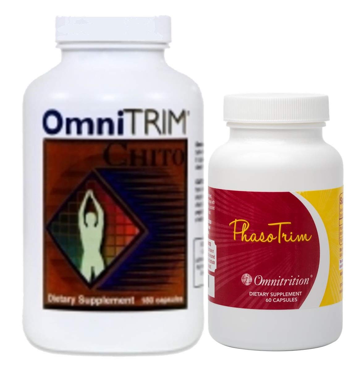 Omnitrition Bundle of 2 Products - the ''Fun Couple'' Includes OmniTrim Chito (180 Capsules) and OmniTrim PhasoTrim (60 Capsules) by Omnitrition