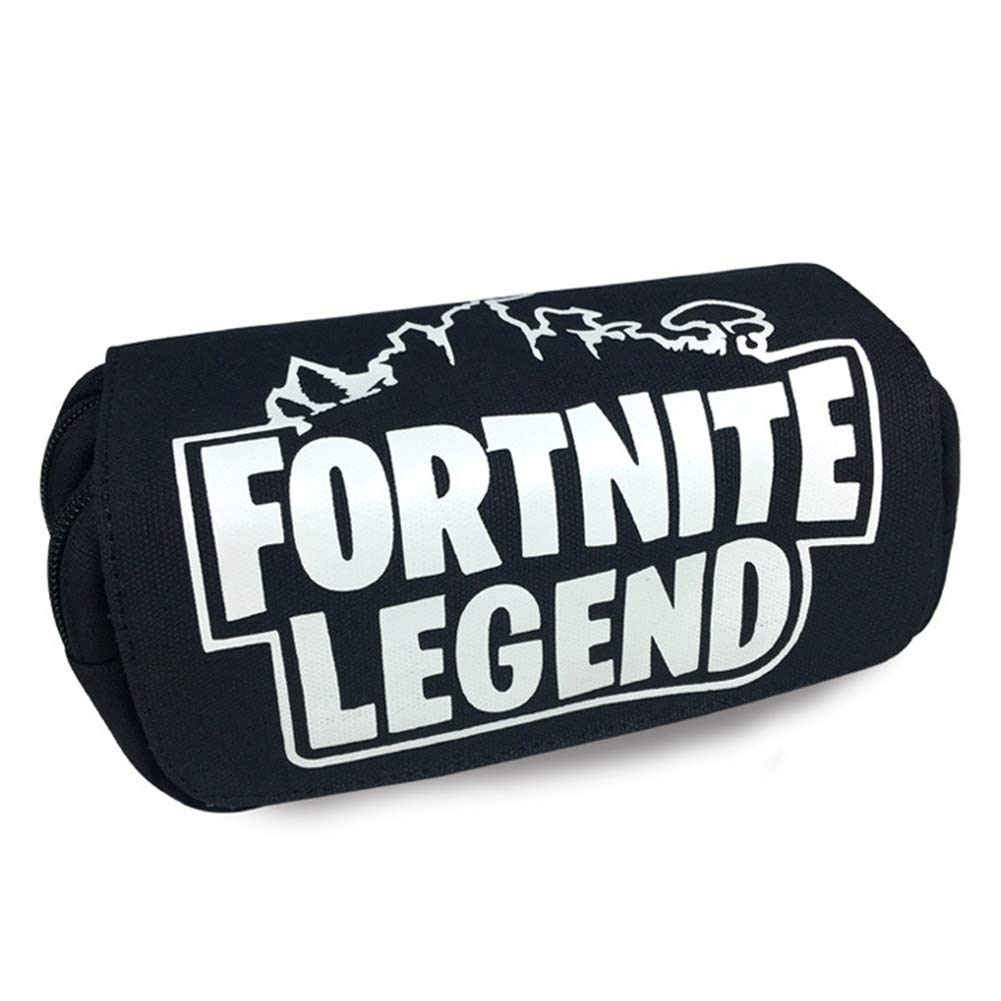 Aristory Fortnite Pencil Case, Double Zipper Pencil Holders, Durable Stationery Pouch Bag Cosmetic for School Home and Office Supplies (H06)