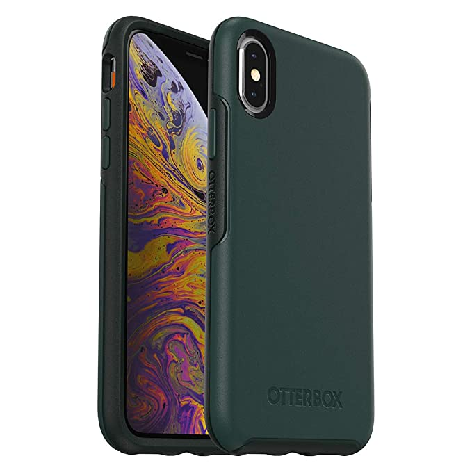 online store a37ef fd86a OtterBox SYMMETRY SERIES Case for iPhone Xs & iPhone X - Retail Packaging -  IVY MEADOW (TREKKING GREEN/SCARAB)