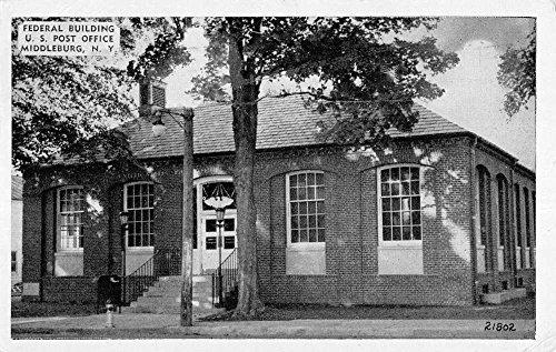 Middleburg New York Federal Bldg Post office Antique Postcard K72211