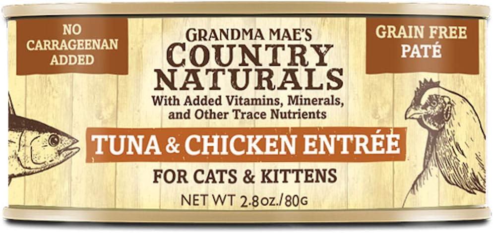 Grandma Mae's Country Naturals Tuna & Chicken Pâté Case 24-2.8 Oz Cans Cat Food