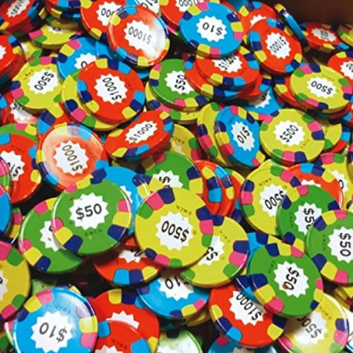 - Chocolate Casino Poker Chips Assorted Coins - Las Vegas Casino Coins in Colorful Foil - 1 Pound