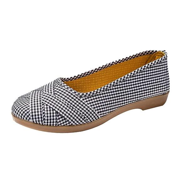 Zapatos de Mujer, ASHOP Casual Planos Loafers Paño Transpirable Mocasines de Puntera otoño Invierno Botas de para Mujer: Amazon.es: Ropa y accesorios