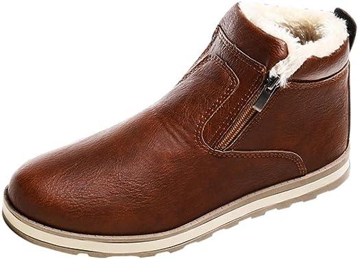 Xinantime_Zapatos para hombre Botas Calientes de Invierno para ...