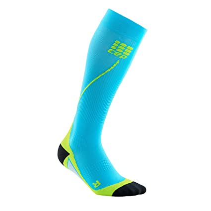 CEP Run Socks 2.0 Señor Calcetines Calcetines triathleten Unidad Calcetines Running Calcetines Deportivos, Azul/