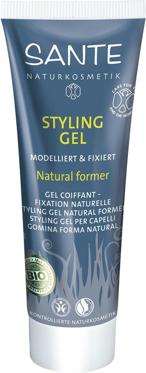 SANTE Naturkosmetik Styling Gel Natural former, Modelliert & fixiert, Festigt das Haar & gibt Halt, Feuchtigkeitsspendend, Vegan, 50ml 42411