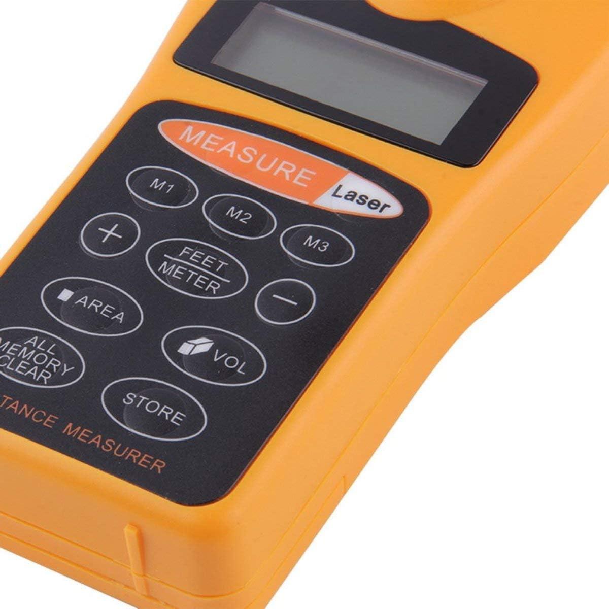 Cosye Mesure de Distance /à ultrasons LCD num/érique m/ètre /à Ruban indicateur Laser Point t/él/ém/ètre calculateur de Zone pointeur Laser