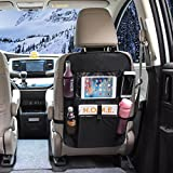 OMORC Car Back Seat Organizer with Tablet HolderBack Seat Protector strong Buckles to Prevent Sag, Multi-Pocket for Bottles, Tissue Boxes,Toy and Baby Travel Accessories Reviews