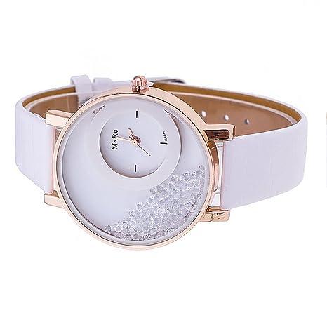 Amazon.com: Joylive Women Quicksand Wrist Watch Pu Leather Bracelet Wristwatch White: Home & Kitchen