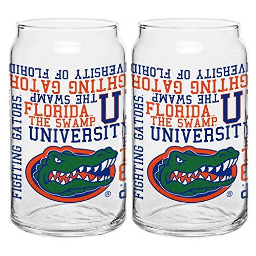 Ncaa Florida Gators Spirit Glass Can  16 Ounce  2 Pack