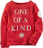 Carter's Girls ''One Of A Kind'' Thermal Tee, Red (4)