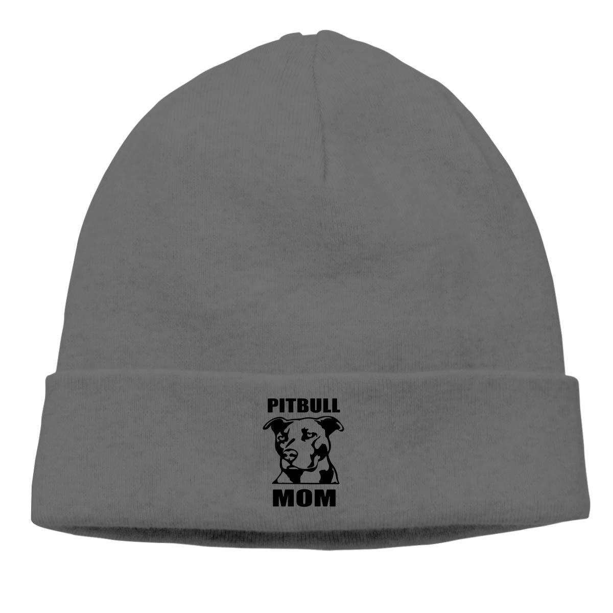 Nskngr Pitbull Mom Logo Men Winter Summer Chunky Ski Slouchy Hat