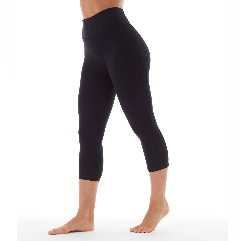 d671a5e98f0ff Amazon.com: Bally Total Fitness Womens High Rise Tummy Control Capri  Legging: Clothing