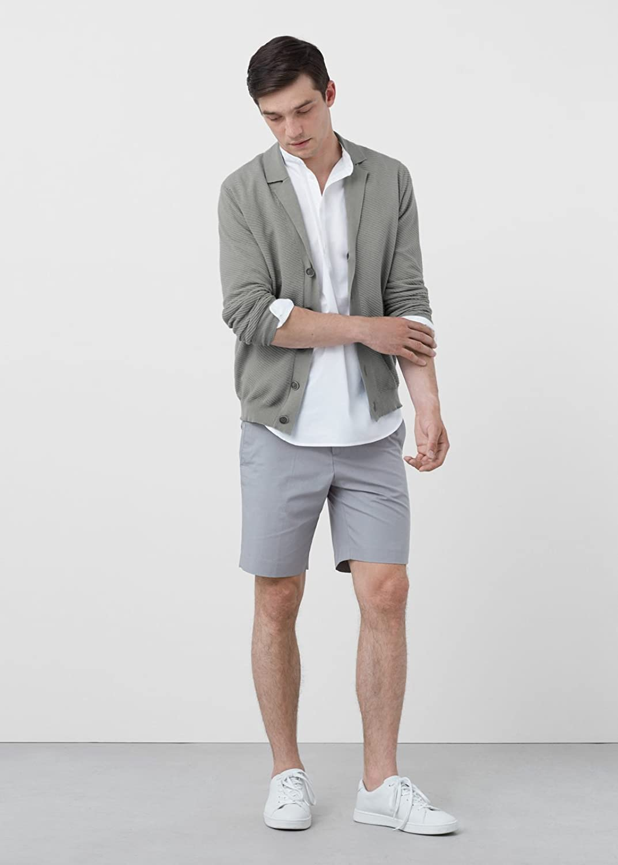 MANGO MAN - Striped texture cardigan