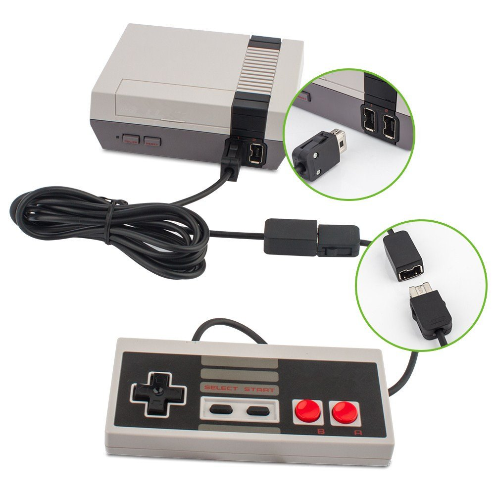 NES Mini Classic Controller Extension Cable, 3m 10ft Extended Cord Lead for Nintendo NES Mini Classic Controller (New 2016 Mini NES Version) – 2 Pack