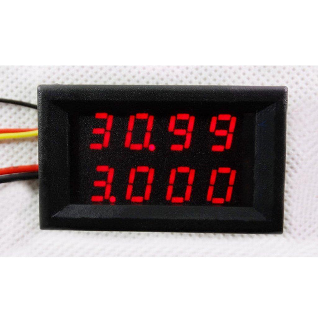 Gr/ün Almencla 0,28 Zoll 3 Draht Digital Voltmeter Amperemeter DC 3,5 28 V Messen Meter Spannung Ampere Meter LED Dual Display