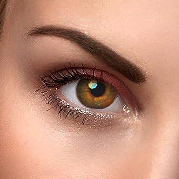 Lentes de contacto de colores, marrón natural, marrón natural ...