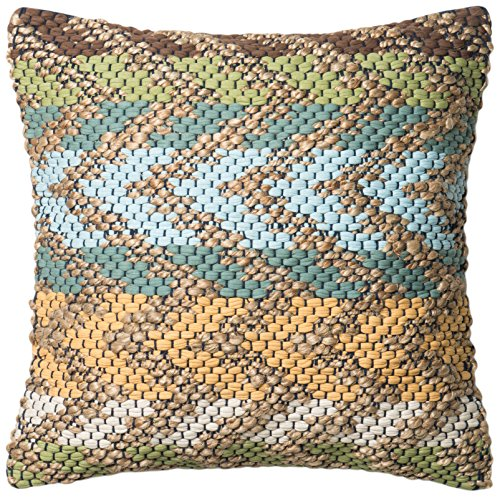 Loloi Loloi-DSETP0330GRMLPIL3-Green/Multi Decorative Accent Pillow 22″ x 22″, 22″ x 22″, Green/Multicolor