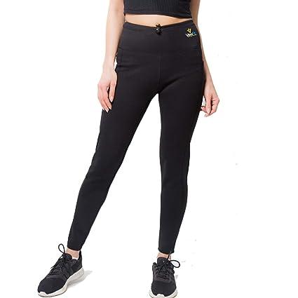 017a01b1be6931 VEOFIT Pantalon de Sudation pour Tonifier Ses Jambes et Obtenir Un Ventre  Plat sans Cellulite : Legging à Taille Ajustable et Poche latérale, Guide  ...