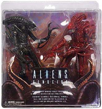 "Aliens 7/"" inch Figures 2-pk Neca 2013 ALIENS GENOCIDE RED /& BLACK XENOMORPHS"