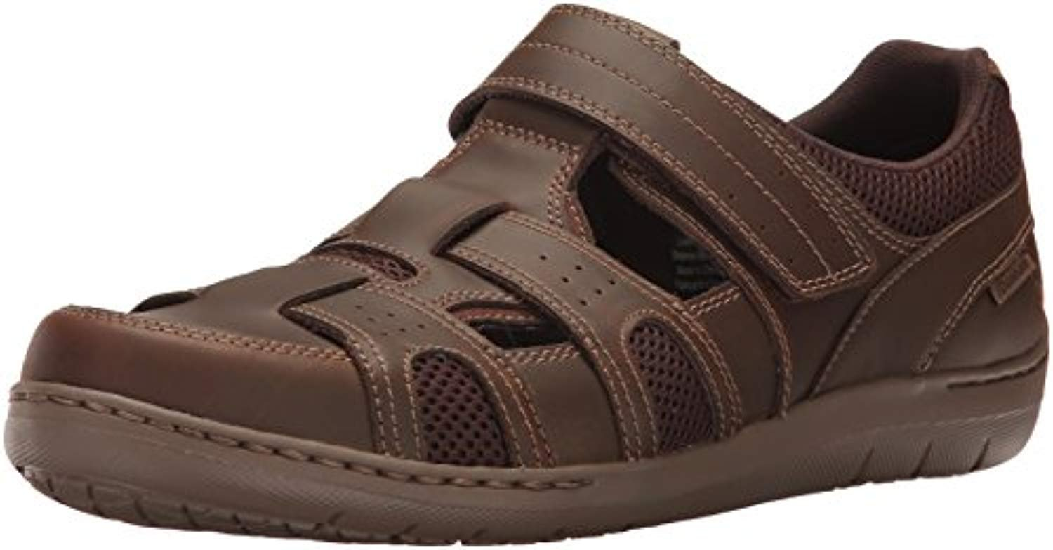 Dunham Men's Fitsmart Fisherman Sandal Brown 10.5 4E & Cooling Towel Bundle