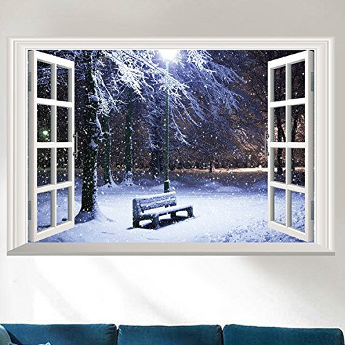 Winter Scene Window Wall Decal