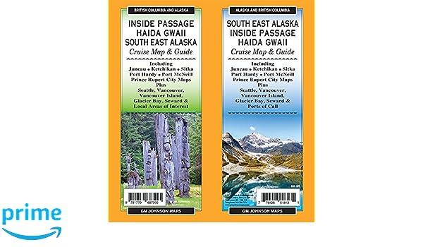 South Alaska Map.Inside Passage Haida Gwaii South East Alaska British Columbia