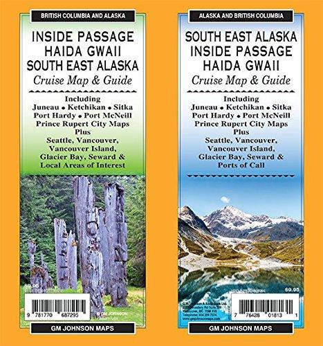 Inside Passage / Haida Gwaii / South East Alaska ,British Columbia and Alaska Regional Map