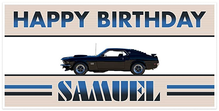 Amazon Com Classic Muscle Car Mustang Boss Birthday Banner