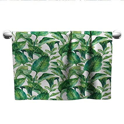 Amazon com: Leaf,Pool Towels Romantic Holiday Island