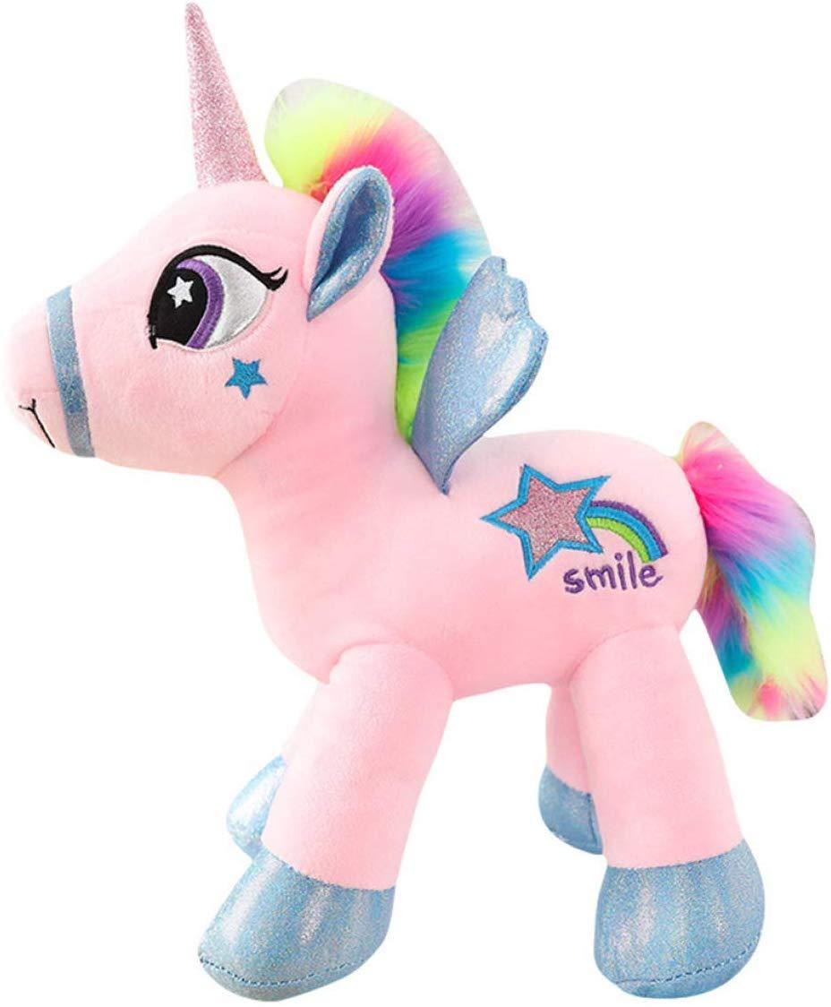 WT-S HLifuz Grateful Peluche Permanente Unicornio Juguete Peluche Cool Lindo Rosa Blanco Arcoiris Pegasus Regalo Magia