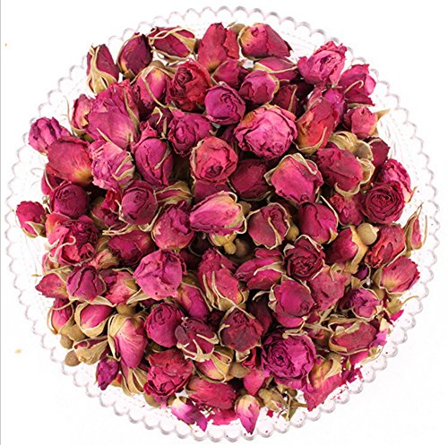 (Teemall Dried Pink French Rose Buds Herbal Tea 150g)
