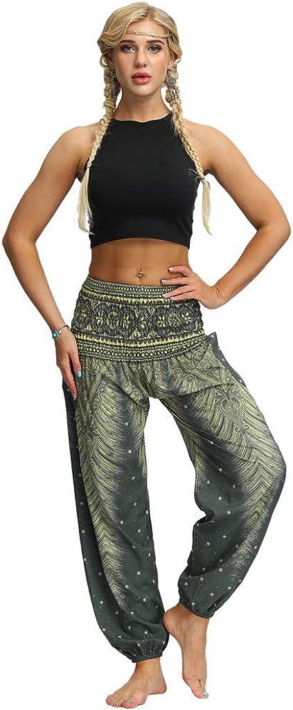 Haremshosen Frauen Gro/ße Gr/ö/ßen Bunt Lang Baggy Yogahosen F/ür Damen Muster Unisex Sporthose Hosen Damen High Waist Lockere Schlaghosen Fitness Sport Yoga