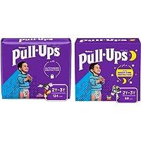 Pull-Ups Night-Time Boys' Training Pants, 2T-3T, 68 Ct and Learning Designs Boys' Training Pants, 2T-3T, 124 Ct