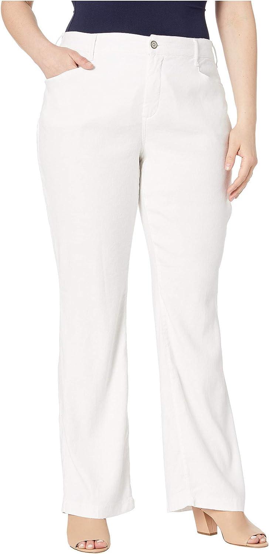 NYDJ Women's Plus Trouser Size Linen Super-cheap Chicago Mall