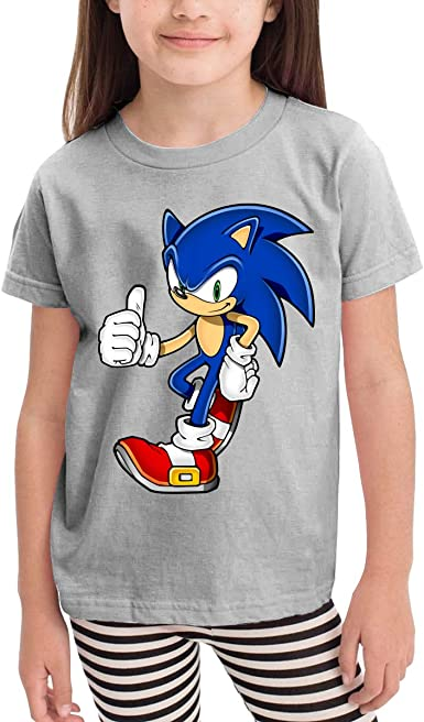 Amazon Com Radyk56rtyh Sonic The Hedgehog The Hedgehog Toddler S T Shirt 100 Cotton Short Sleeve Cool Style Tee For Children Blue Clothing