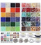 EuTengHao 15723Pcs Natural Gemstone Beads Irregular Chips Stone Beads 2mm Glass Seed Waist Beads ...