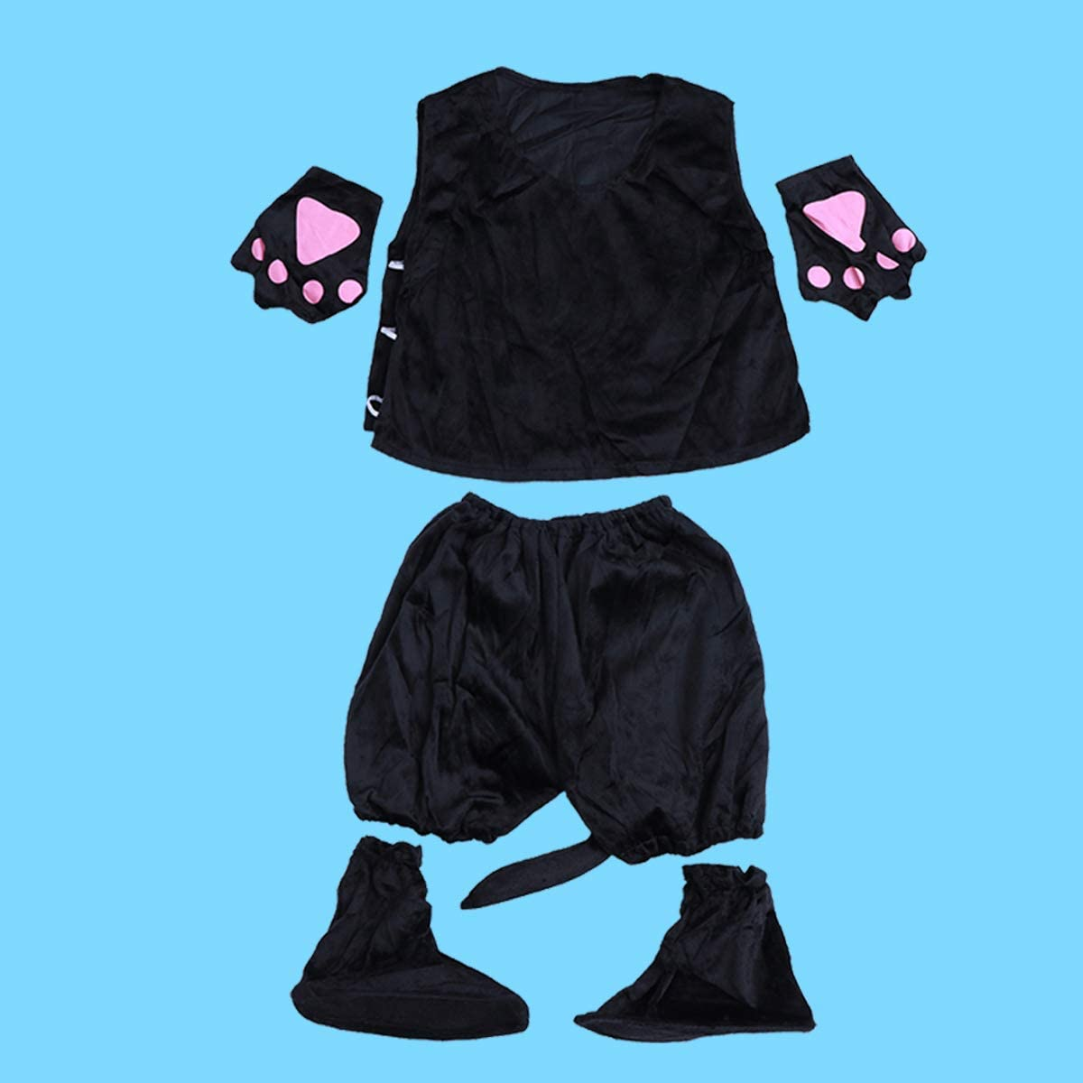 BESTOYARD Disfraz de Oso Panda con Gorro Bufanda Guantes Infantil ...