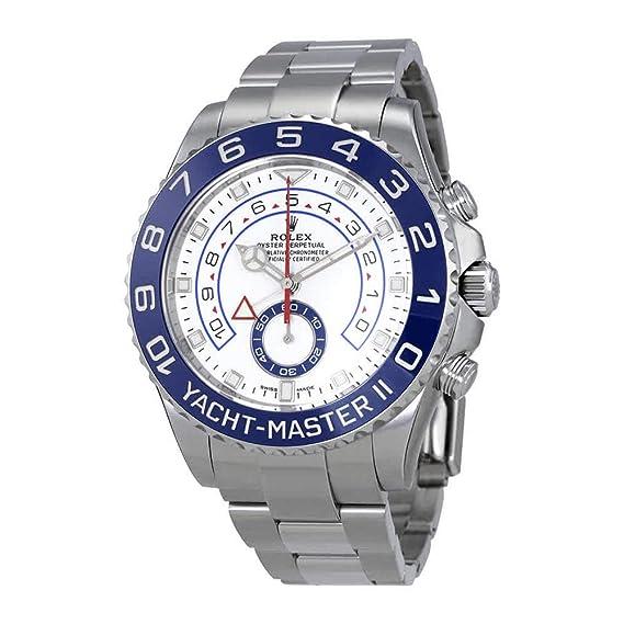 Rolex Yacht-Master II - Reloj automático para hombre, esfera blanca, 116680-0002: Amazon.es: Relojes