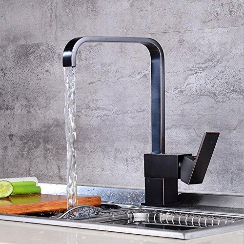 Retro Antique 360 ° Turn Kitchen Tap Sink Tap Single Lever Kitchen Sink Mixer Tap Antique Brass Sink Tap Quartet Kitchen Sink Basin Mixer ()