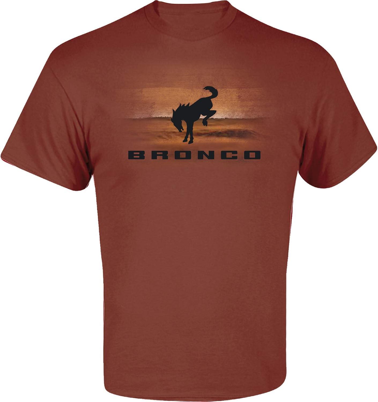 Medium Ford New Bronco Sedona Brown 100/% Cotton Mens Short Sleeved Screenprinted T-Shirt