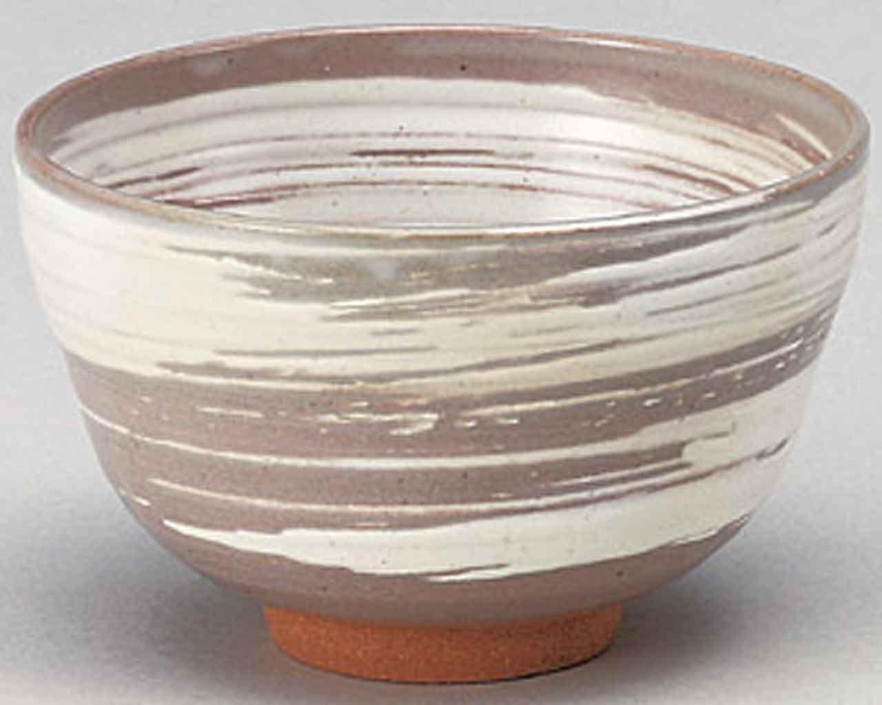 Brush 4.7inch Matcha-Bowl Grey Ceramic Made in Japan by Watou.asia